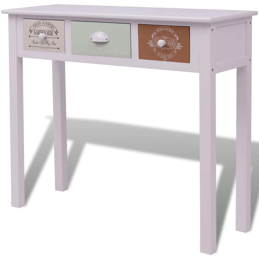 vidaxl shabby chic landhausstil konsolentisch holz g nstig kaufen. Black Bedroom Furniture Sets. Home Design Ideas