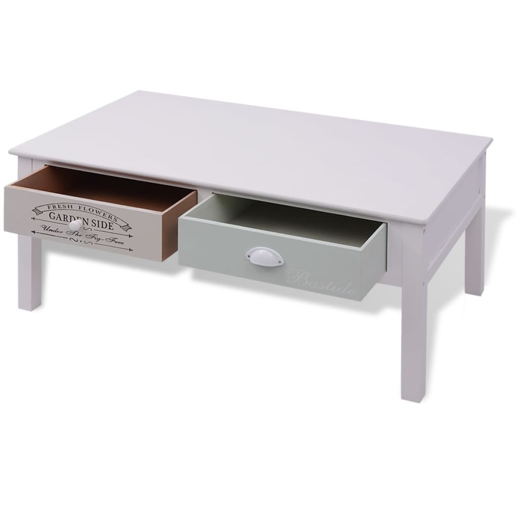 French Coffee Tables Uk: VidaXL French Coffee Table Wood Home Living Room Furniture