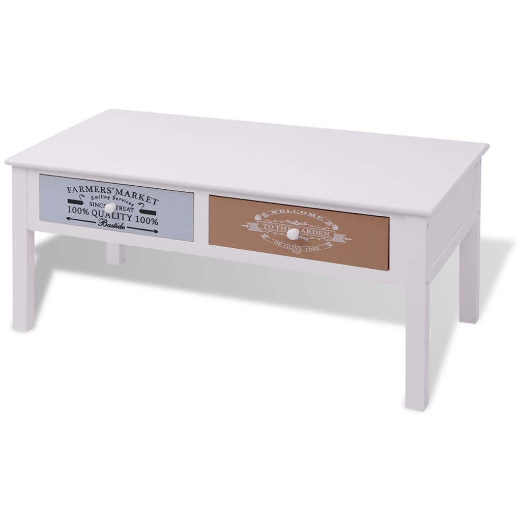 VIDAXL TABLE BASSE Bois de salon Table auxiliaire Table console ...