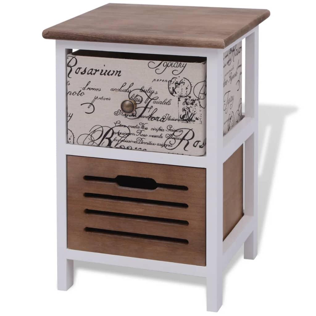 vidaxl nachttisch holz g nstig kaufen. Black Bedroom Furniture Sets. Home Design Ideas