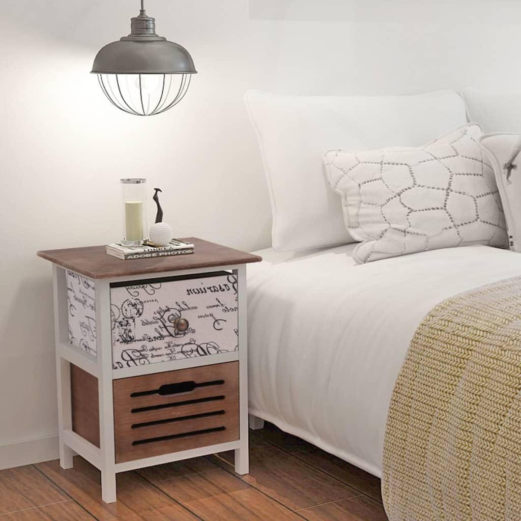 1 2x nachttisch nachtschrank nachtkonsole telefontisch for Nachttisch landhausstil