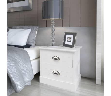 der vidaxl nachttisch landhausstil wei online shop. Black Bedroom Furniture Sets. Home Design Ideas