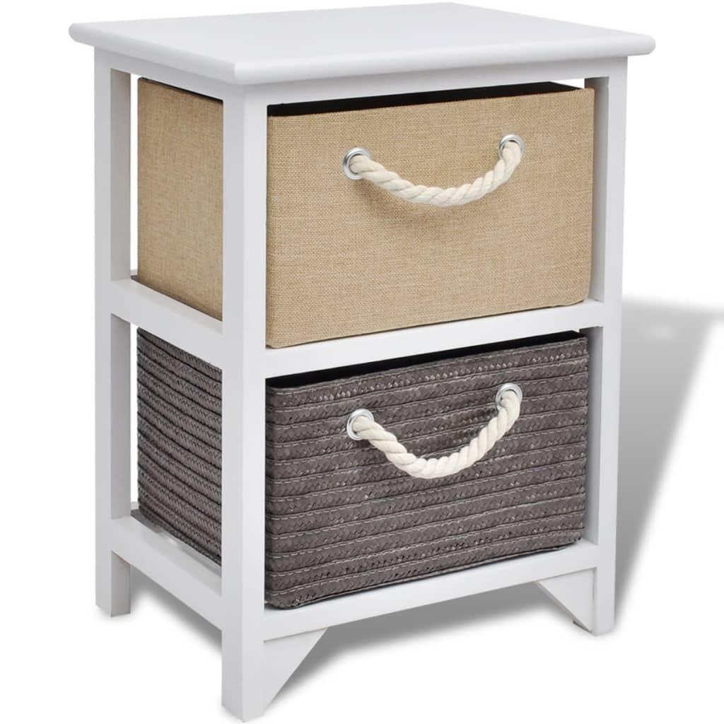 Vidaxl comodino mobiletto con 2 cassetti camera da letto for Mobiletto camera