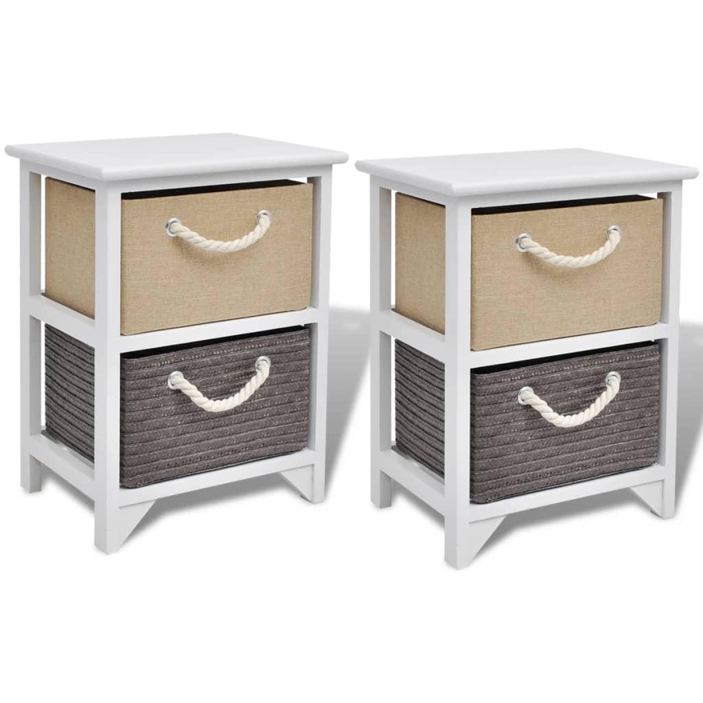 acheter vidaxl table de chevet 2 pcs bois pas cher. Black Bedroom Furniture Sets. Home Design Ideas