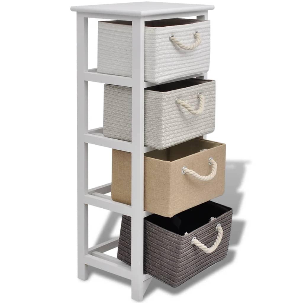 Vidaxl armario de almacenaje 4 cajones de madera tienda - Armarios almacenaje ...