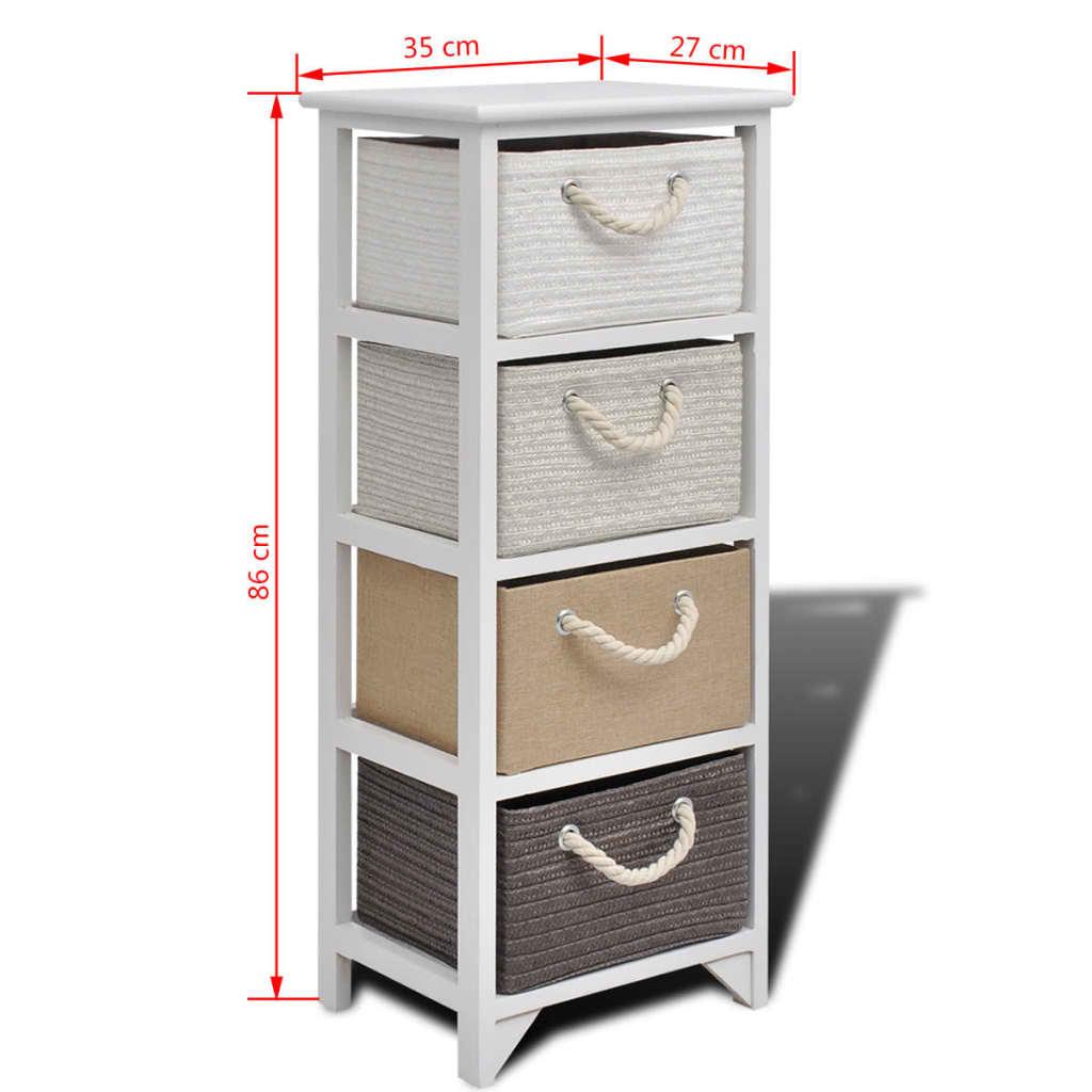 Acheter vidaxl armoire de rangement 4 tiroirs bois pas for Armoire de rangement a tiroir