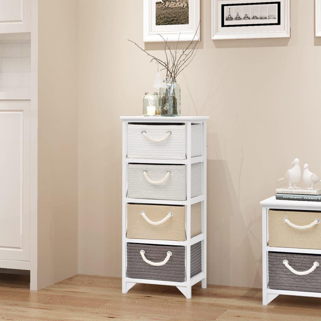 Vidaxl armario de almacenaje 4 cajones de madera - Armarios para almacenaje ...