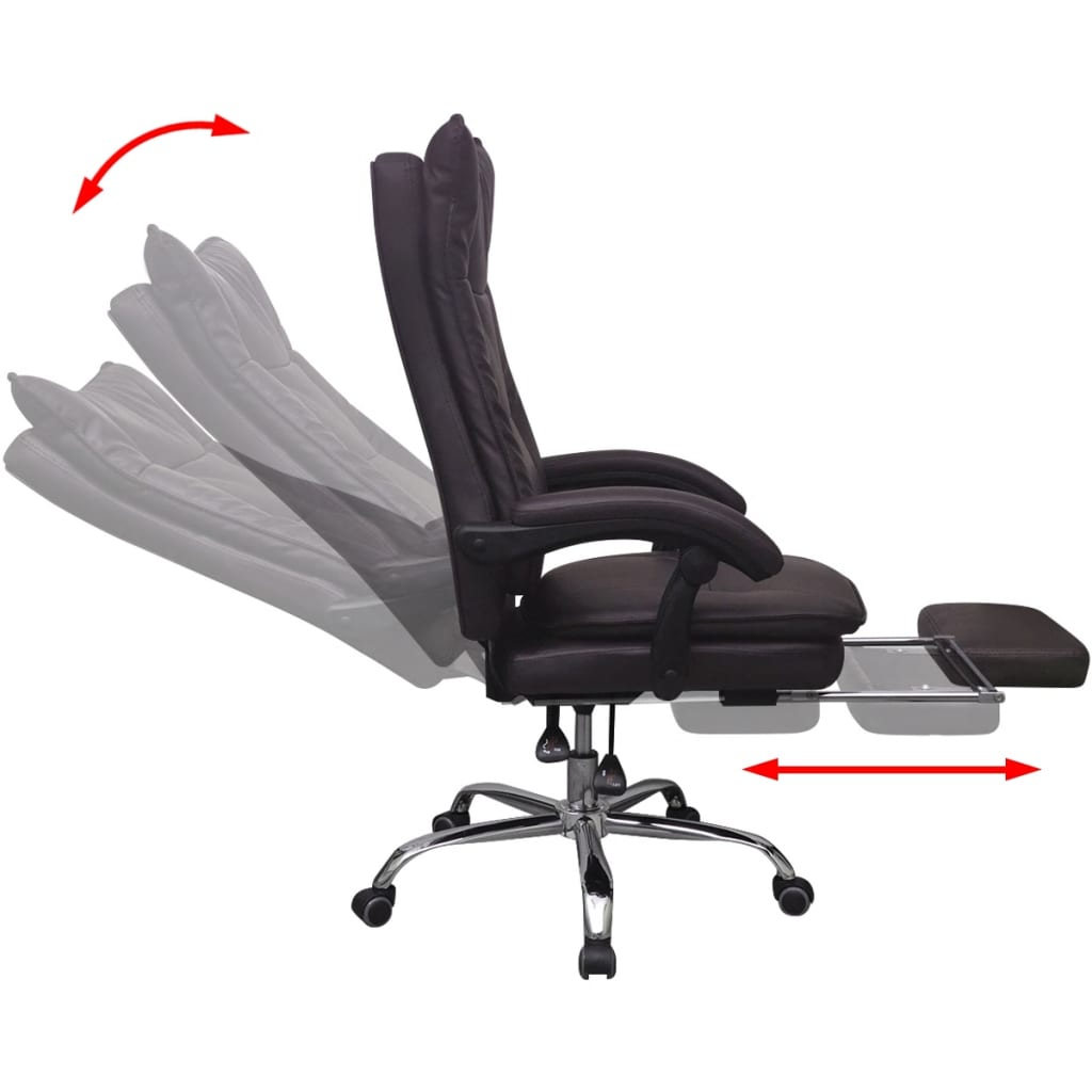 Acheter vidaxl chaise de bureau inclinable avec repose for Chaise inclinable