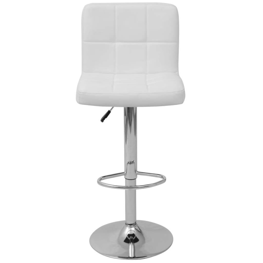 acheter vidaxl tabouret de bar 2 pcs blanc cuir pu pas cher. Black Bedroom Furniture Sets. Home Design Ideas