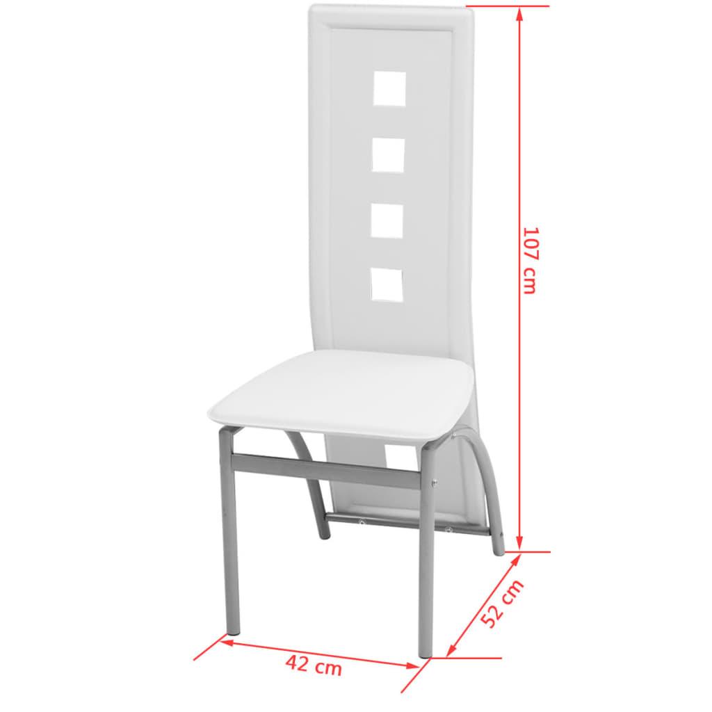 vidaxl siebenteilige essgruppe wei g nstig kaufen. Black Bedroom Furniture Sets. Home Design Ideas