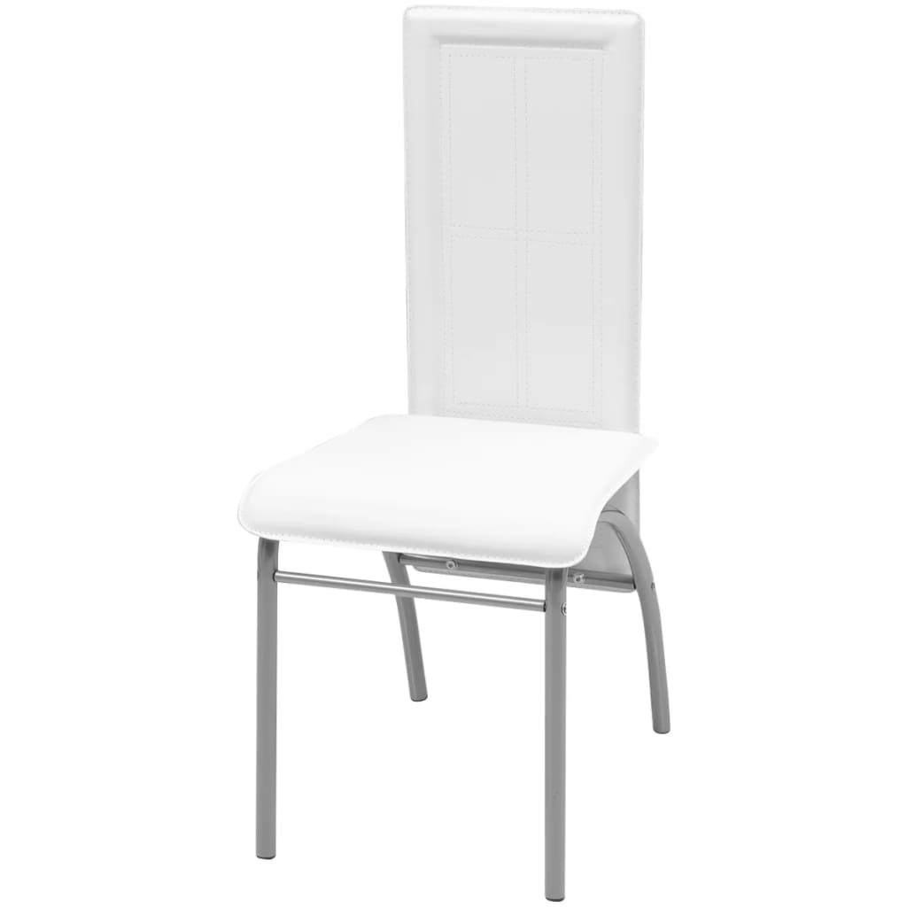Acheter vidaxl chaise de salle manger 2 pi ces blanc pas for Chaise salle a manger vidaxl