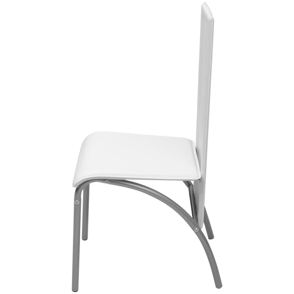 Vidaxl 2 pz sedie per sala da pranzo bianche for Sedie bianche sala da pranzo