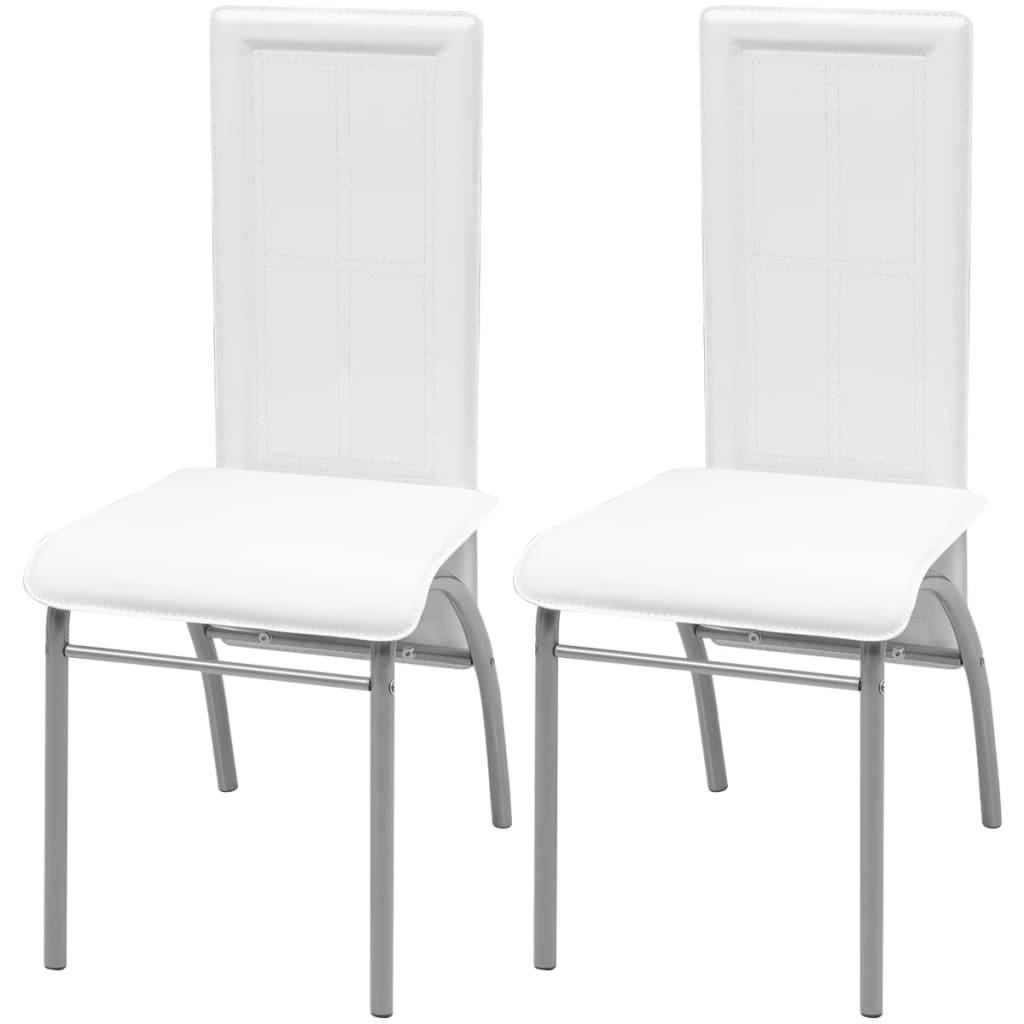 vidaXL Krzesła do jadalni 2 szt, białe
