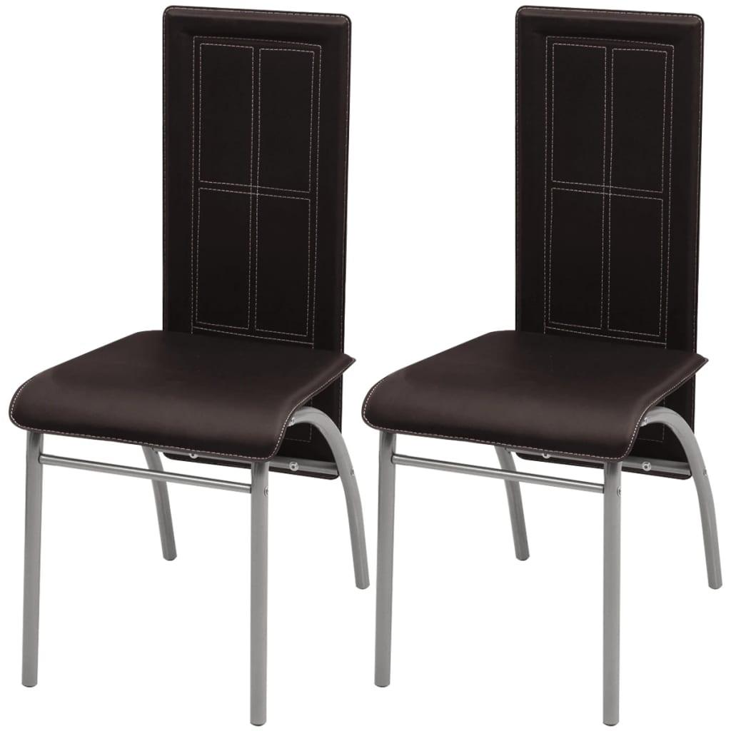 vidaXL Krzesła do jadalni 2 szt, brązowe