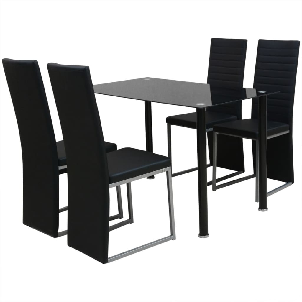 Vidaxl conjunto de comedor 1 mesa y 4 sillas de cinco for Mesas de comedor amazon