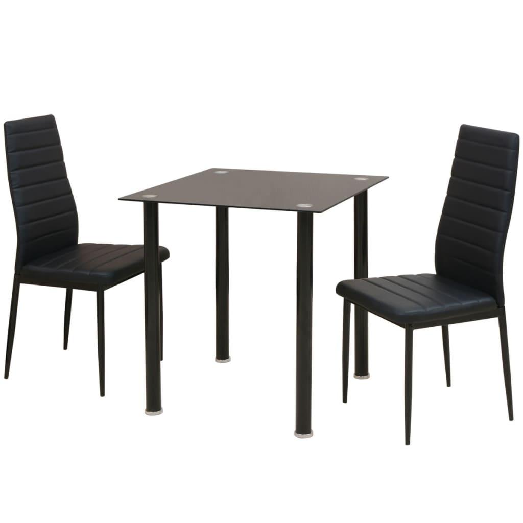Acheter vidaxl ensemble de table et chaise de salle for Ensemble table et chaise noir