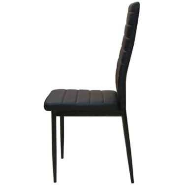 vidaxl 5 tlg essgruppe esstisch mit st hlen schwarz g nstig kaufen. Black Bedroom Furniture Sets. Home Design Ideas