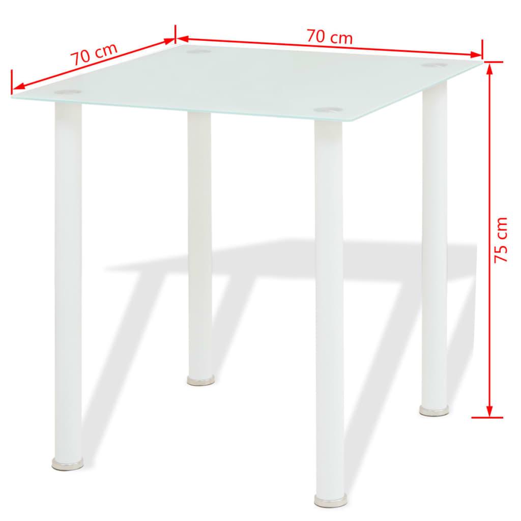 vidaxl 3 tlg essgruppe esstisch mit st hlen wei g nstig. Black Bedroom Furniture Sets. Home Design Ideas