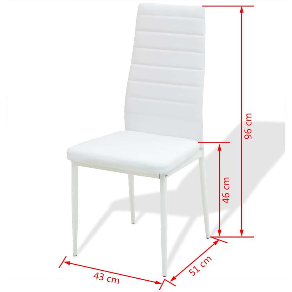 vidaxl 5 tlg essgruppe esstisch mit st hlen wei g nstig kaufen. Black Bedroom Furniture Sets. Home Design Ideas