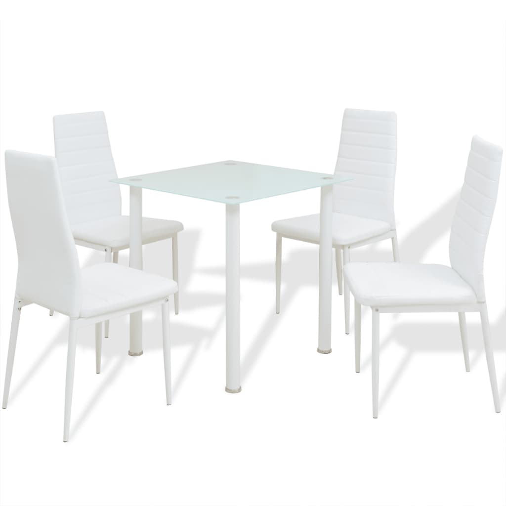 Acheter vidaxl ensemble de meuble de salle manger 5 for Meuble de salle a manger blanc