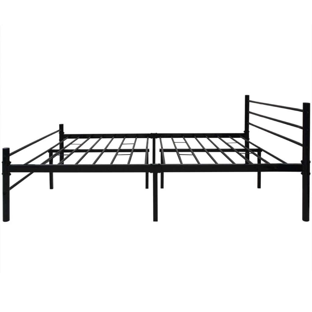 vidaxl doppelbett metall schwarz 180x200 cm g nstig kaufen. Black Bedroom Furniture Sets. Home Design Ideas