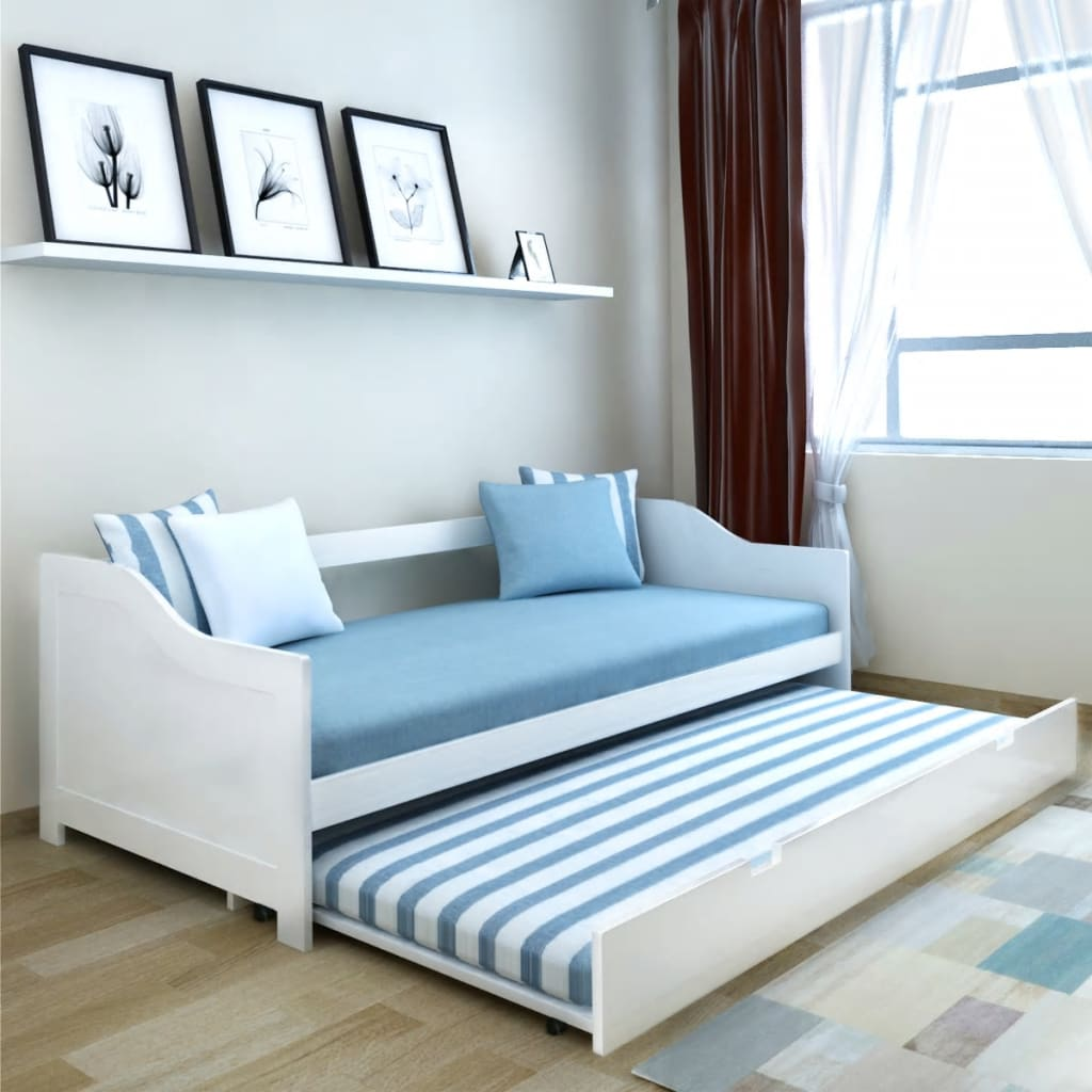Pull Out Sofa Day Bed Frame Guest Visitor Sleepover Furniture ...