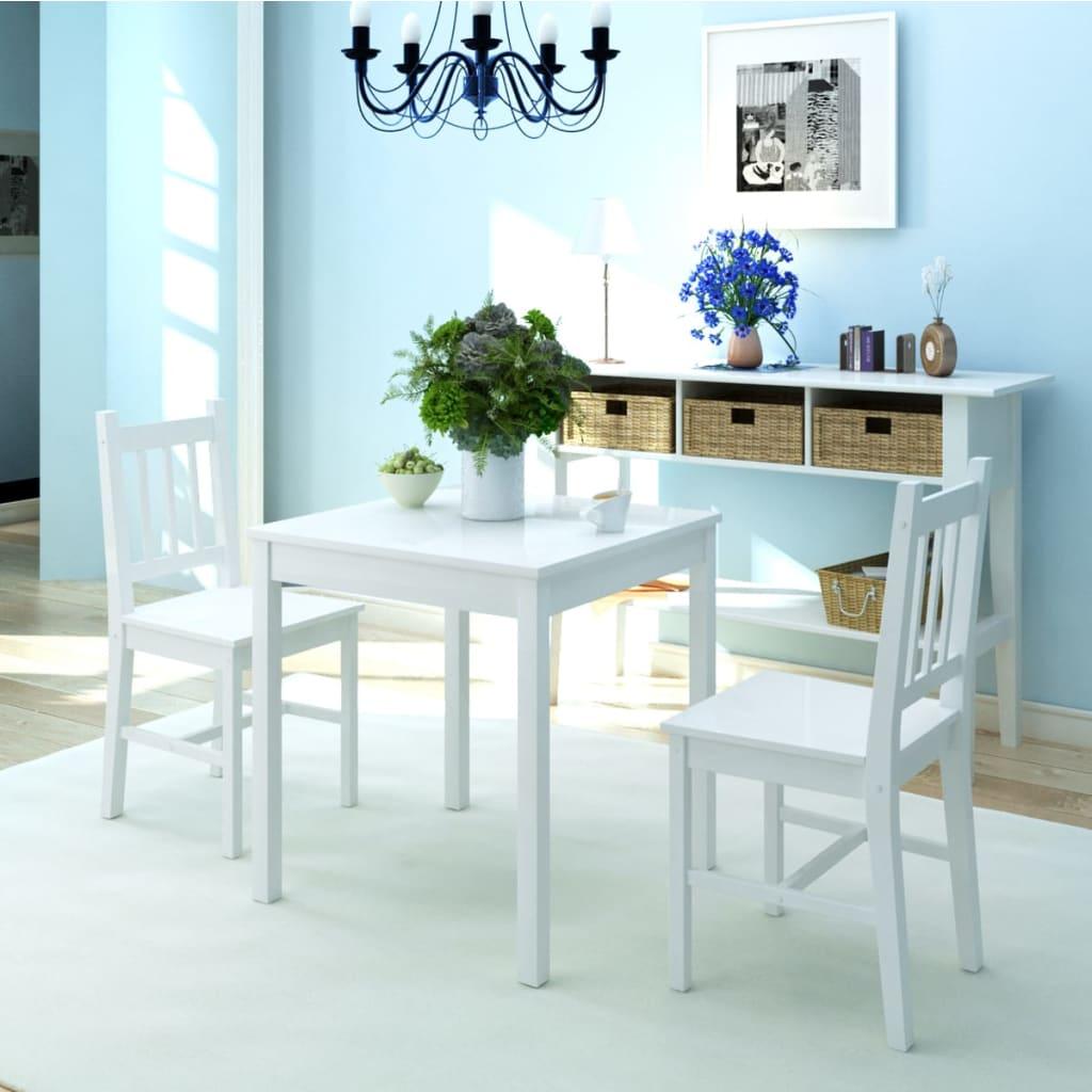 Vidaxl set de comedor tres piezas 1 x mesa y 2 x sillas for Set sillas comedor