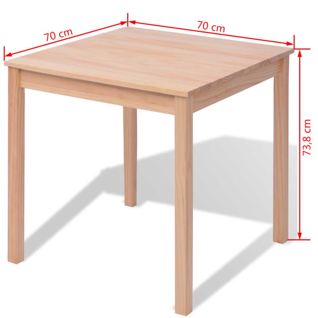 vidaxl dreiteiliges esstisch set pinienholz zum schn ppchenpreis. Black Bedroom Furniture Sets. Home Design Ideas