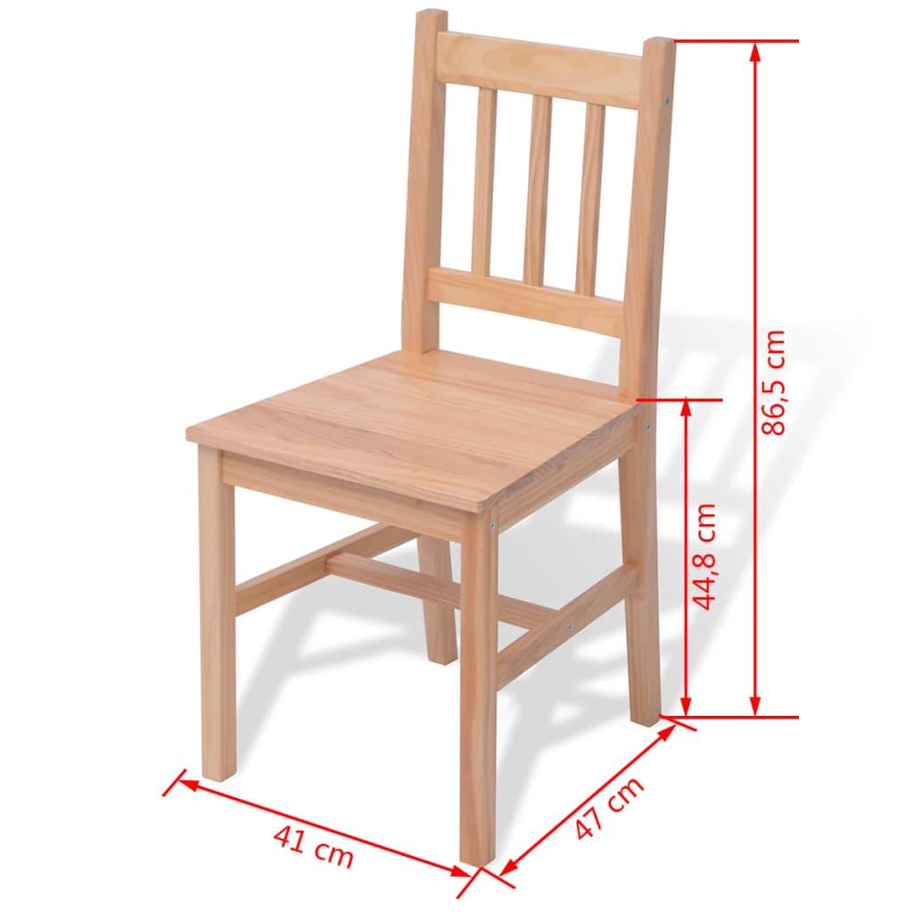 Vidaxl set de comedor de cinco piezas madera de pino - Tratamiento para madera de pino ...