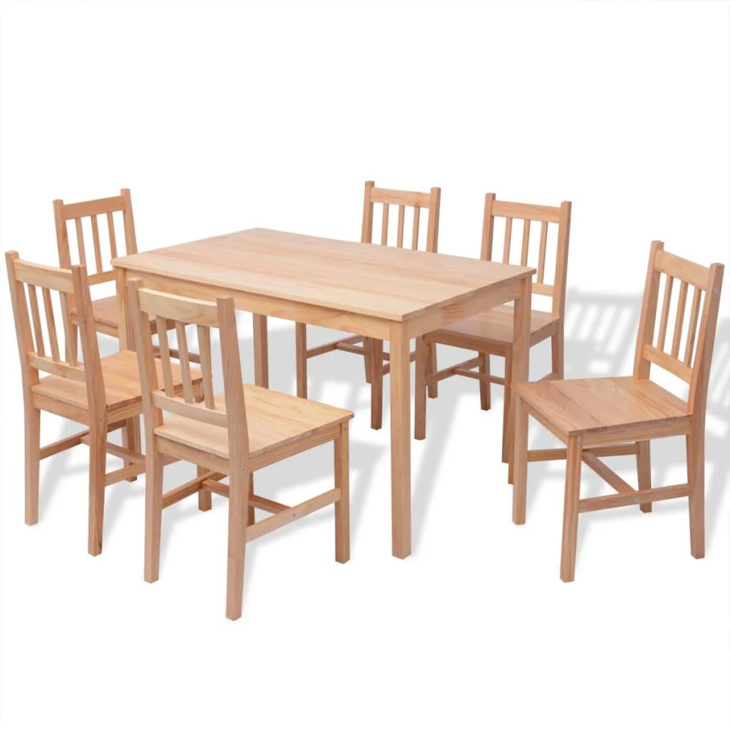 Kitchen Table With 6 Chairs: 7 Piece 1 Dining Table And 6 Chairs Set Kitchen Home