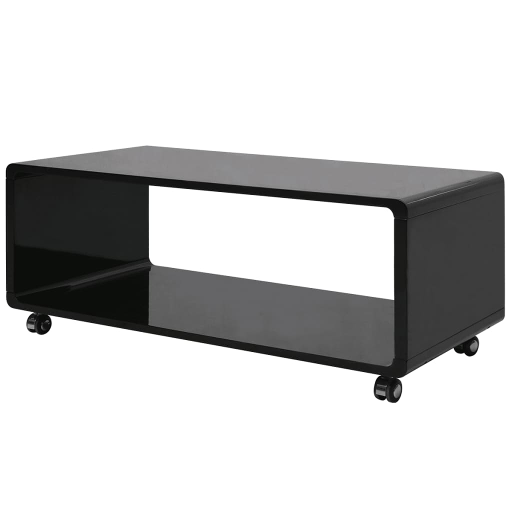 acheter vidaxl table basse noire haute brillance pas cher. Black Bedroom Furniture Sets. Home Design Ideas
