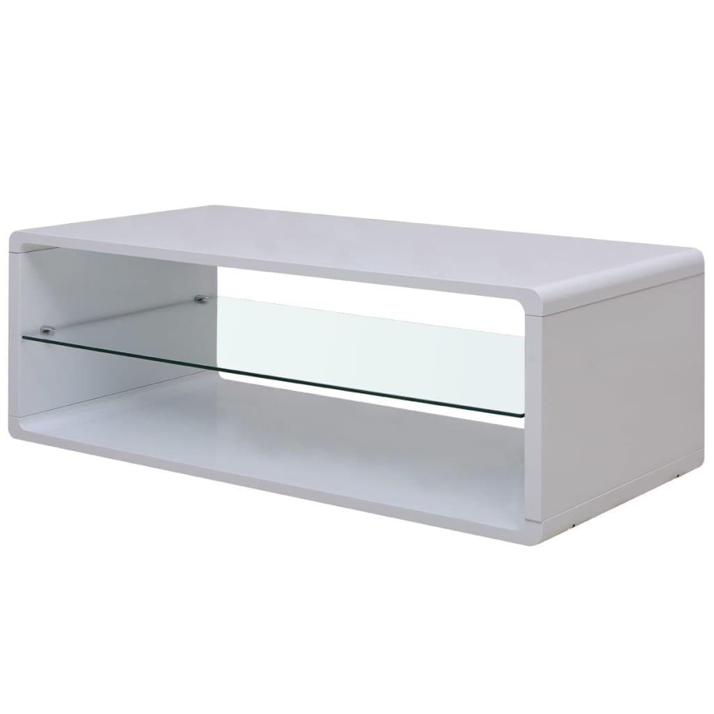 vidaXL fényes fehér dohányzóasztal