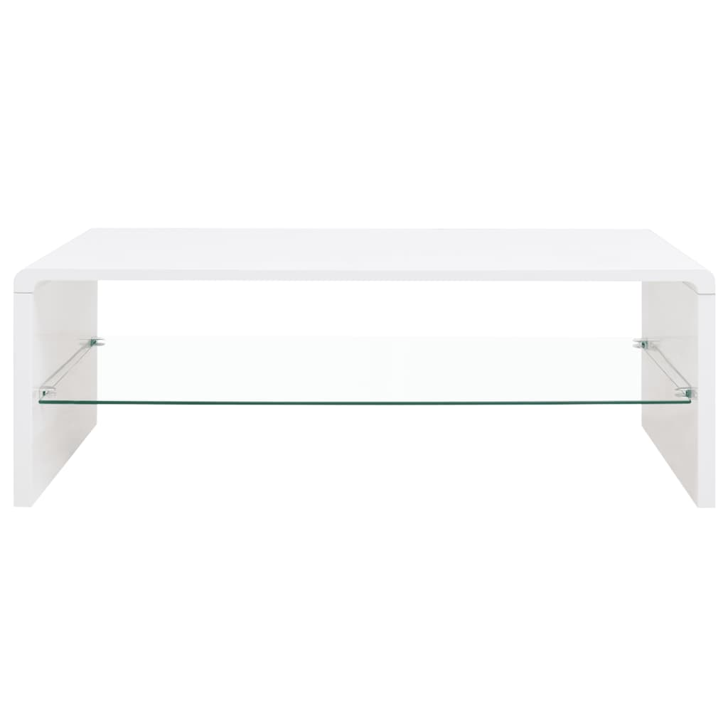 Annika White Gloss Coffee Table: VidaXL High Gloss Coffee Table White