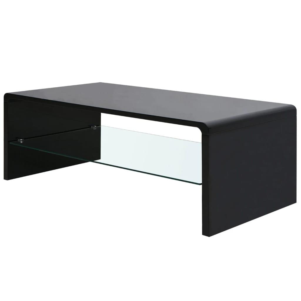 Vidaxl high gloss coffee table black - How high should a coffee table be ...