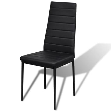 vidaXL 5-dielny set jedálenského stola, čierny[4/6]