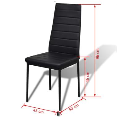 vidaXL 5-dielny set jedálenského stola, čierny[5/6]
