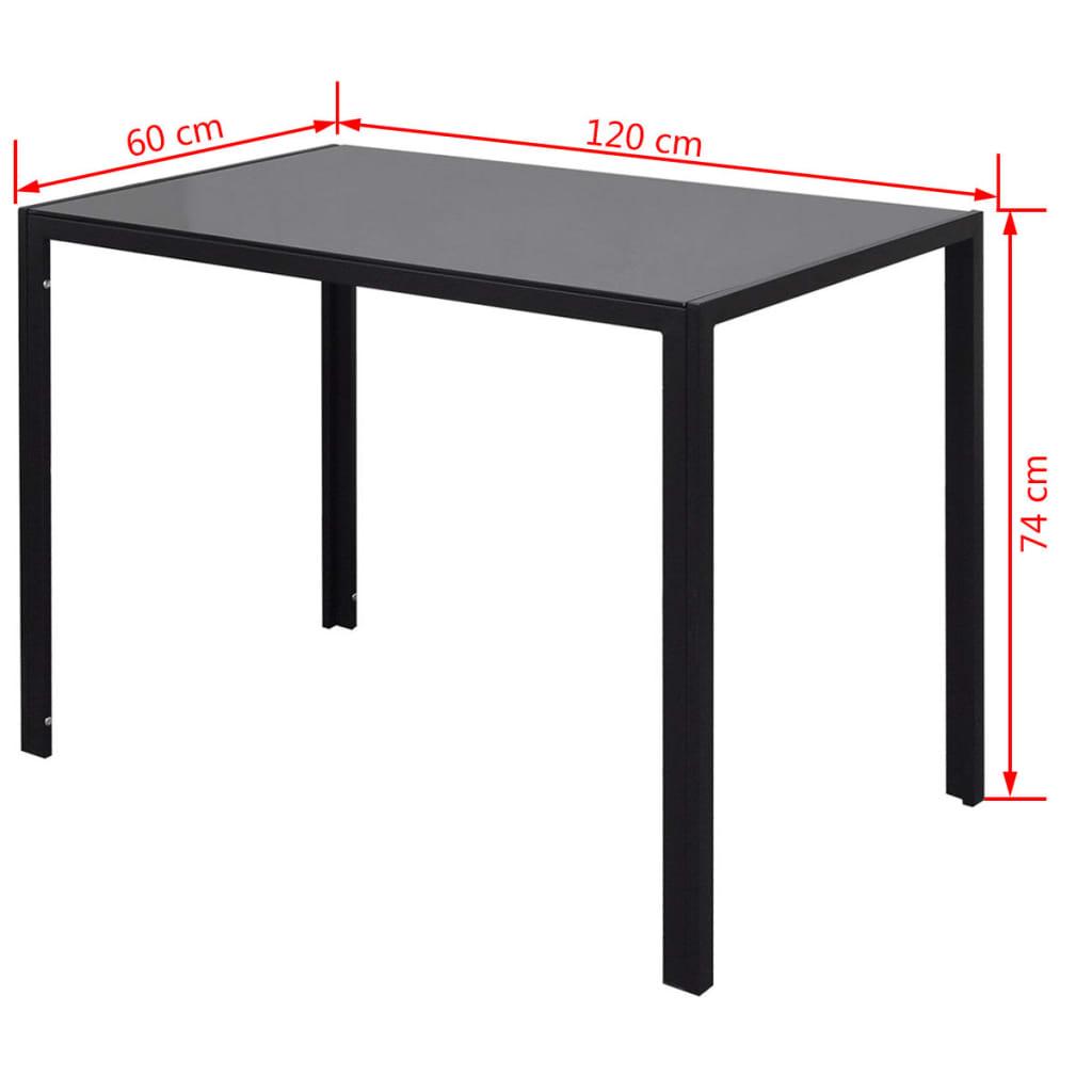 Vidaxl 7tlg esstisch set schwarz g nstig kaufen for Esstisch set