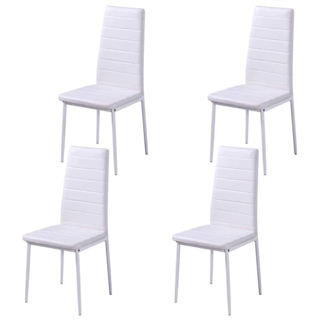 acheter vidaxl ensemble de table manger cinq pi ces noir et blanc pas cher. Black Bedroom Furniture Sets. Home Design Ideas