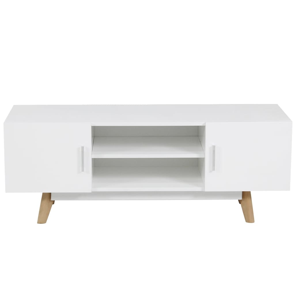 acheter vidaxl meuble tv 120 x 40 x 46 cm blanc mdf pas cher. Black Bedroom Furniture Sets. Home Design Ideas
