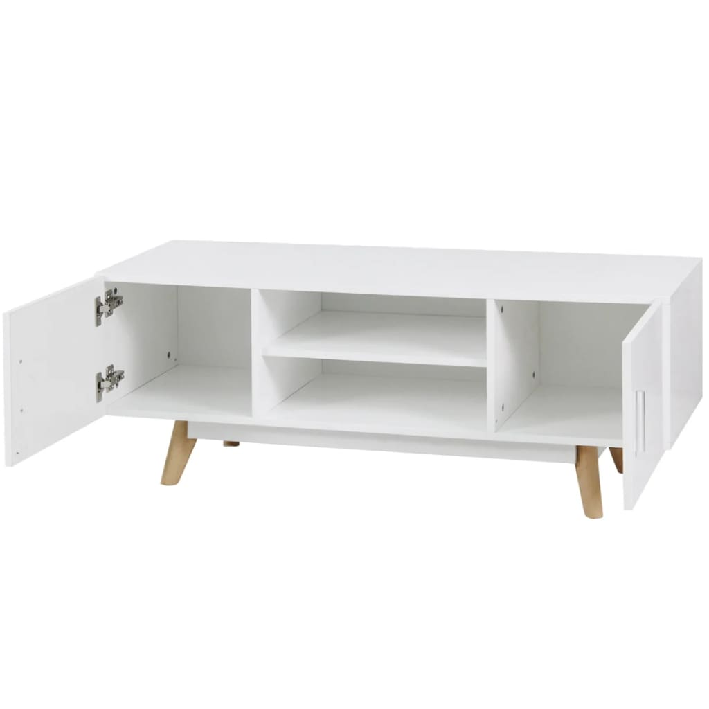 acheter vidaxl meuble tv 120 x 40 x 46 cm blanc mdf pas. Black Bedroom Furniture Sets. Home Design Ideas