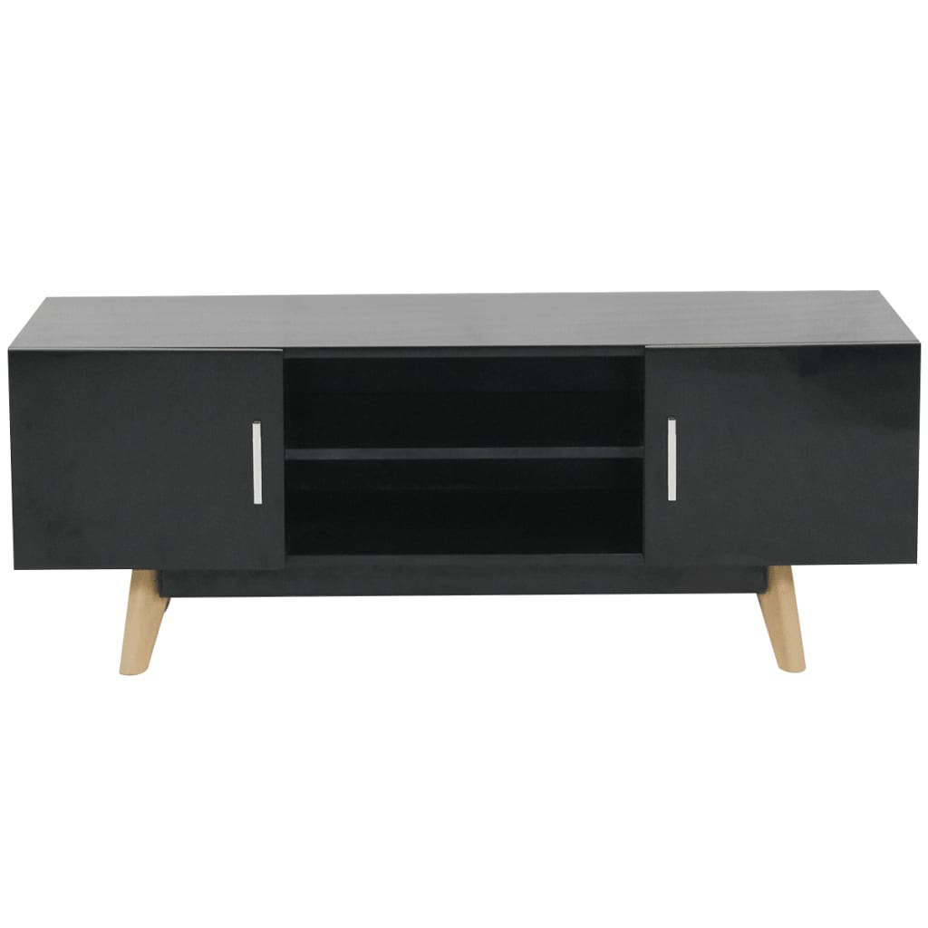 vidaxl hochglanz tv schrank schwarz 120x40x46 cm mdf g nstig kaufen. Black Bedroom Furniture Sets. Home Design Ideas