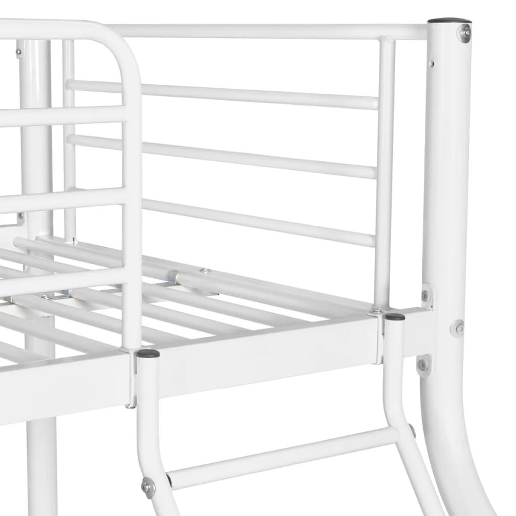 acheter vidaxl cadre de lit superpos pour enfant 200x140 200x90cm m tal blanc pas cher. Black Bedroom Furniture Sets. Home Design Ideas