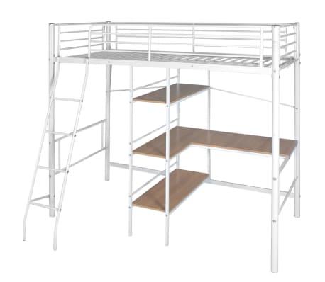 children kids high sleeper cabin bed frame with desk. Black Bedroom Furniture Sets. Home Design Ideas