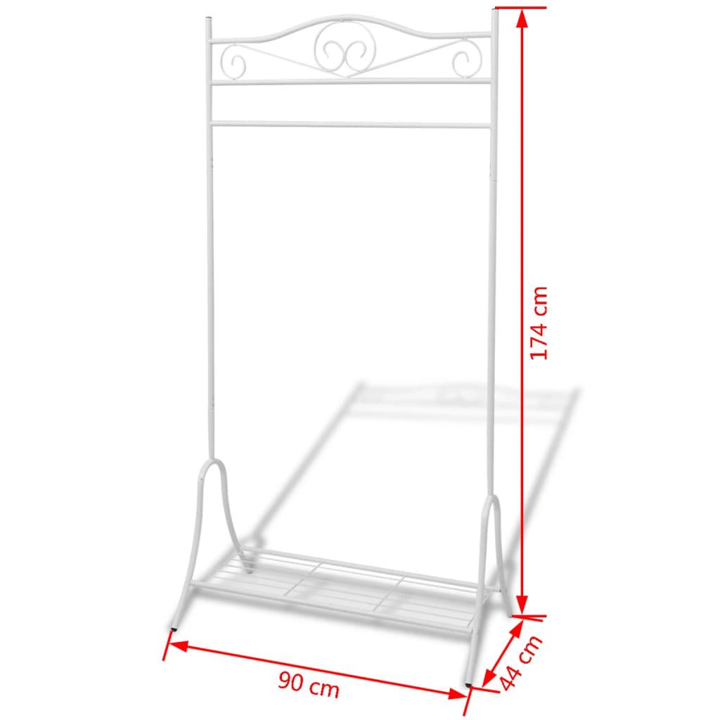 acheter vidaxl portant v tements blanc acier pas cher. Black Bedroom Furniture Sets. Home Design Ideas