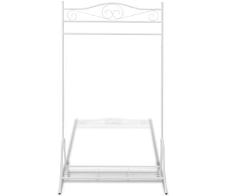 vidaxl portant v tements blanc acier. Black Bedroom Furniture Sets. Home Design Ideas