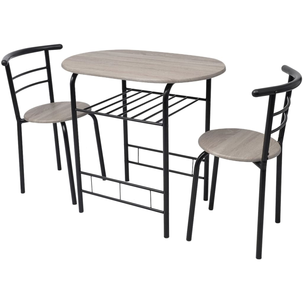 breakfast bar table and 2 chairs stools set dining room kitchen bistro coffee ebay. Black Bedroom Furniture Sets. Home Design Ideas