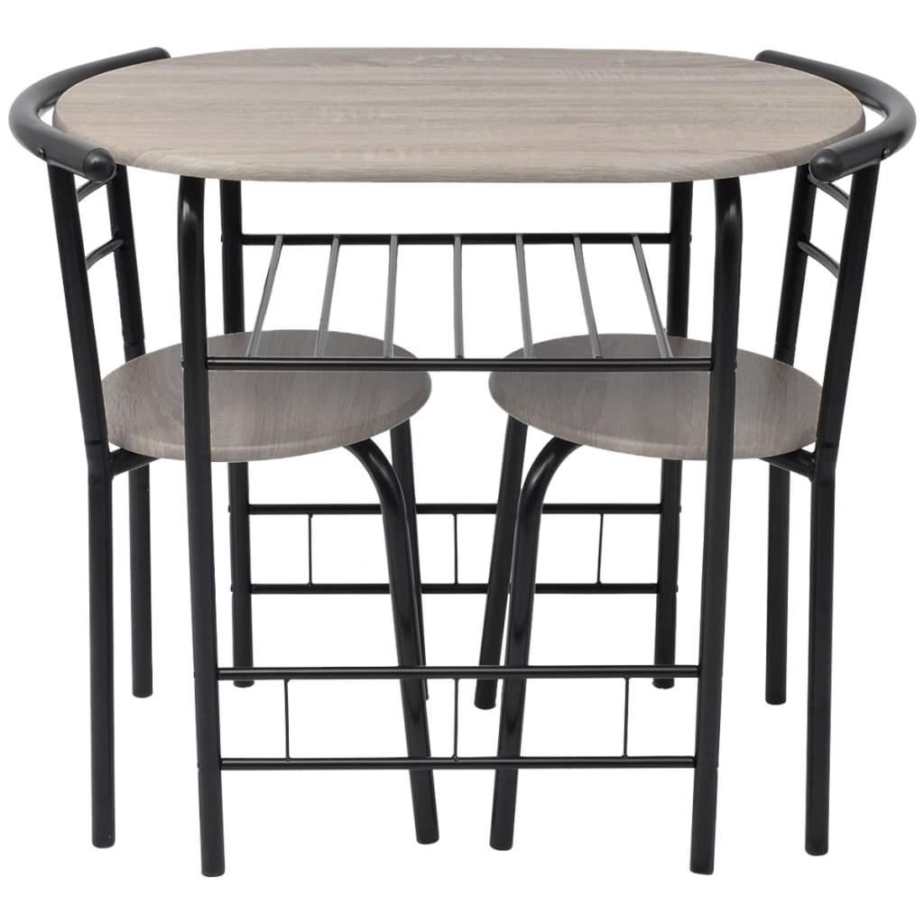 Breakfast bar table and 2 chairs stools set dining room for Kitchen table and stools