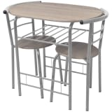 vidaXL Breakfast Bar Set MDF