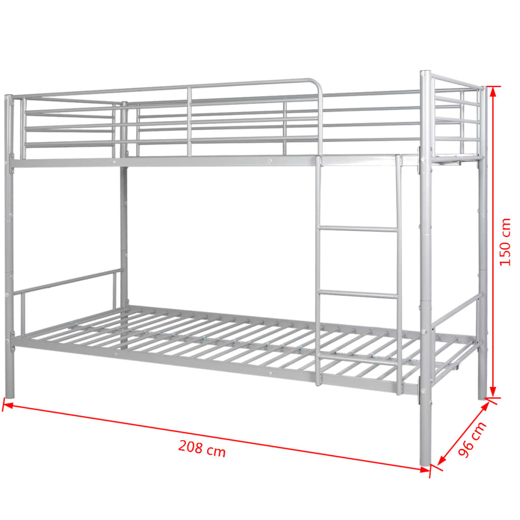 Vidaxl children s bunk bed frame 200x90 cm for Bunk bed frame