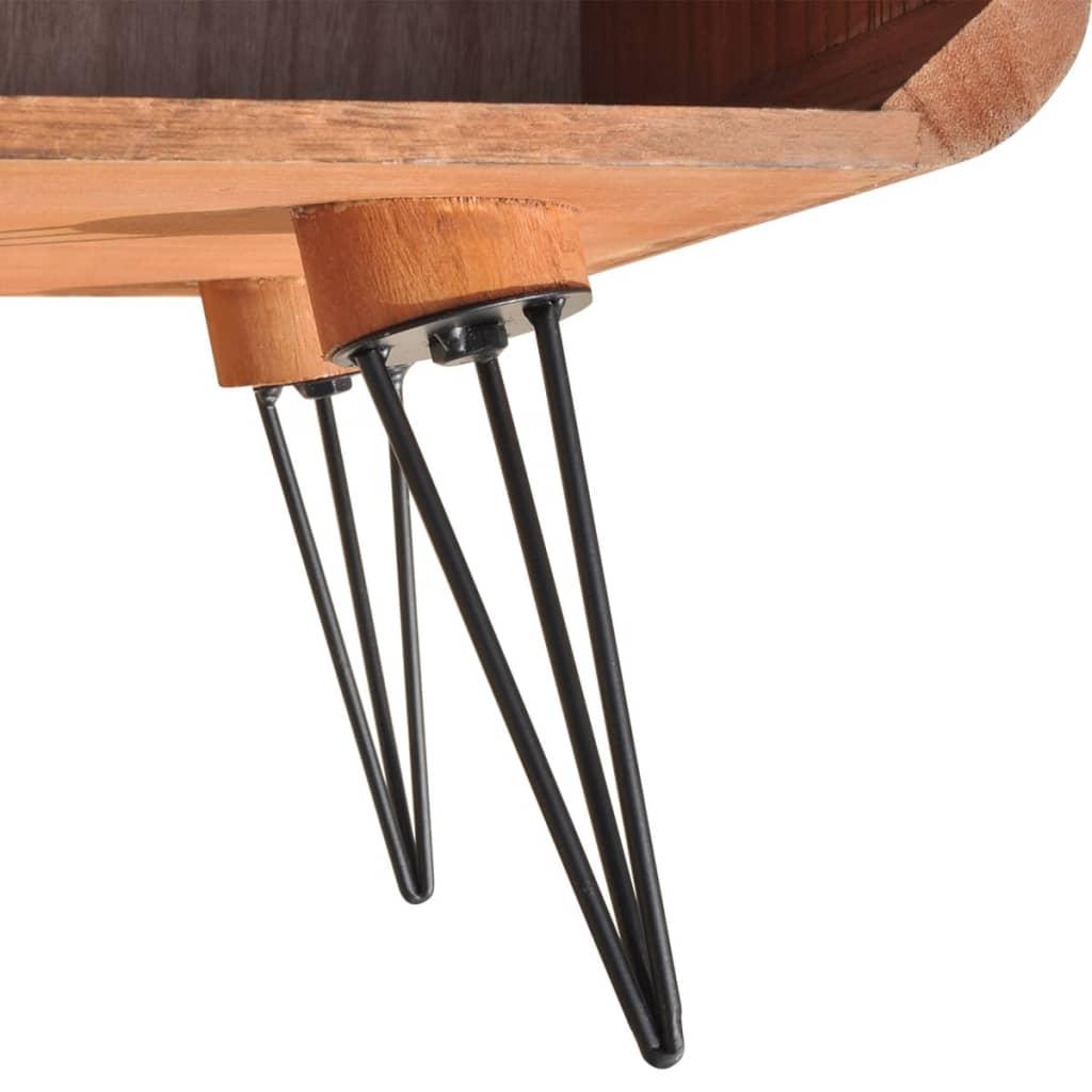 Acheter vidaxl meuble tv 90 x 39 x 38 5 cm bois marron pas for Meuble tv 90 cm